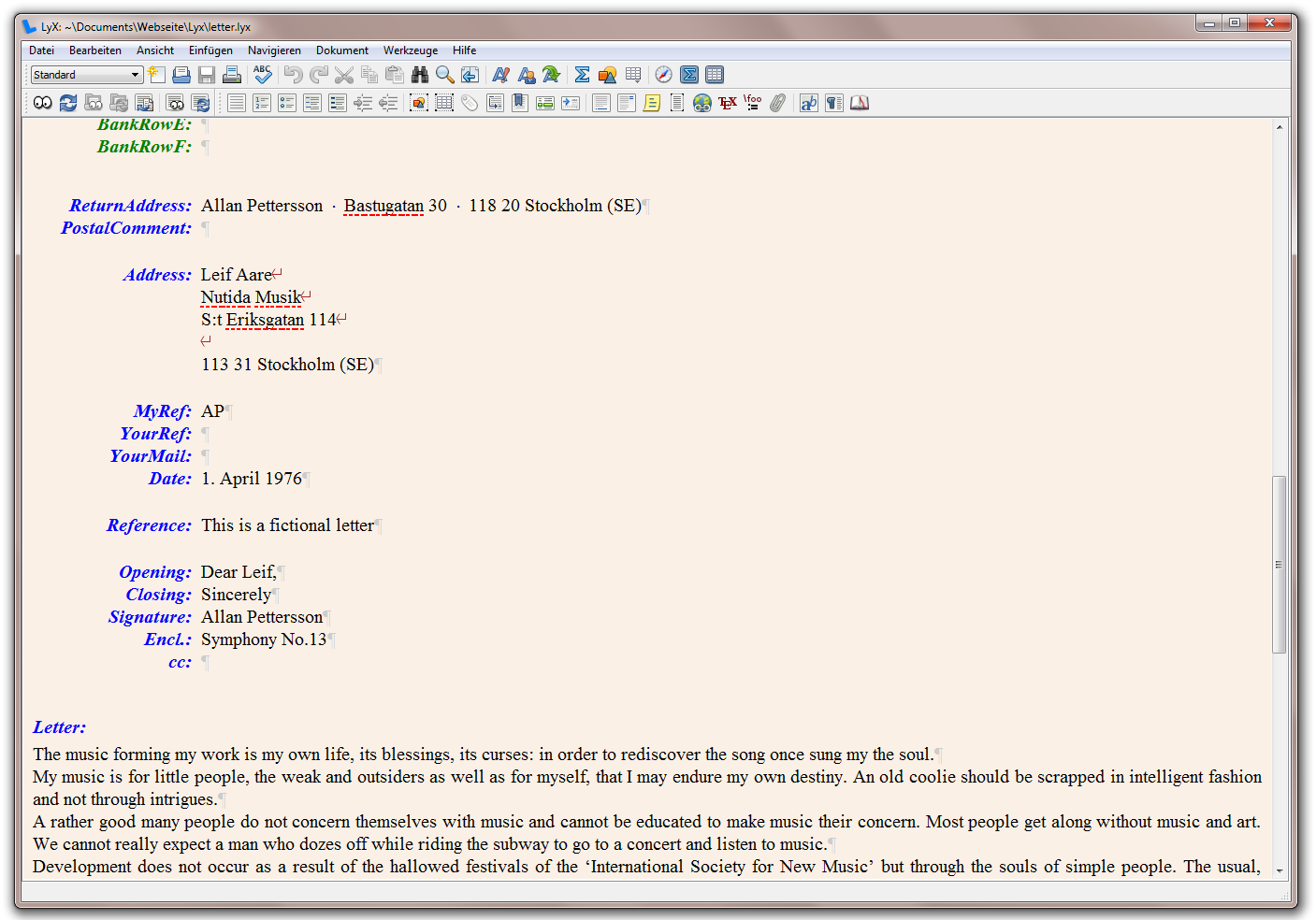 lyx document processor